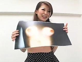 おっぱいコピーでスザンヌ似美女が乳首ポロリしまくり!