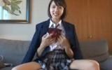 【初ハメ撮り】高校卒業したての女子大生に制服を着せてハメ撮りSEX!!