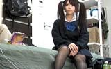 【隠し撮り】男の部屋にも慣れてないツインテールJKが関西弁のナンパ師に喰われる一部始終