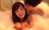 【素人】激カワ巨乳の女子大生とお風呂でイチャイチャしてからラブラブSEX!!